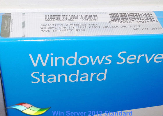 China DVD adaptable estándar lleno de los sistemas de Windows Server 2012 FPP FQC 64bit de la versión fábrica